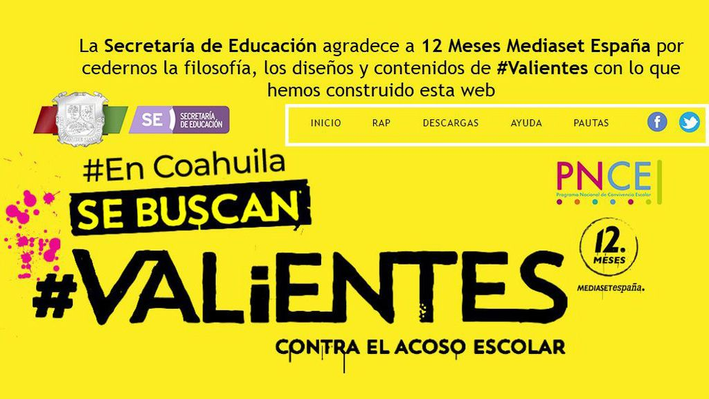La campaña 'Se Buscan Valientes contra el acoso escolar' se traslada hasta el estado de Coahuila para luchar contra el bullying