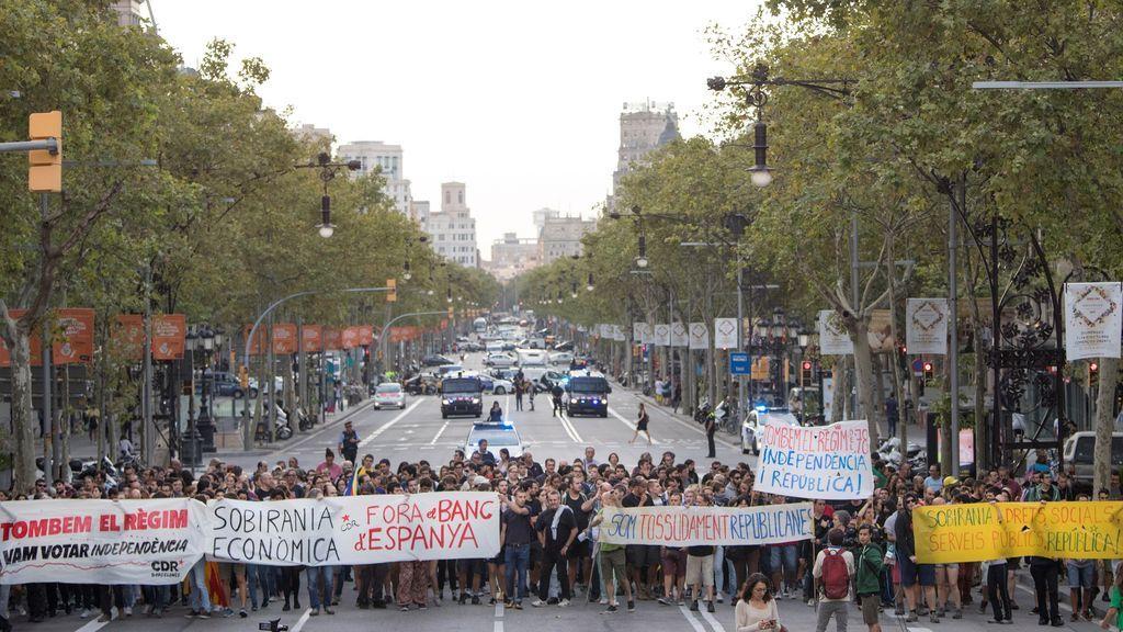 Concentraciones y cortes de carreteras de los CDR por toda Cataluña