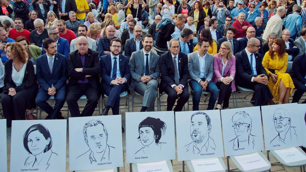 Los políticos presos a la cabeza del 1-O
