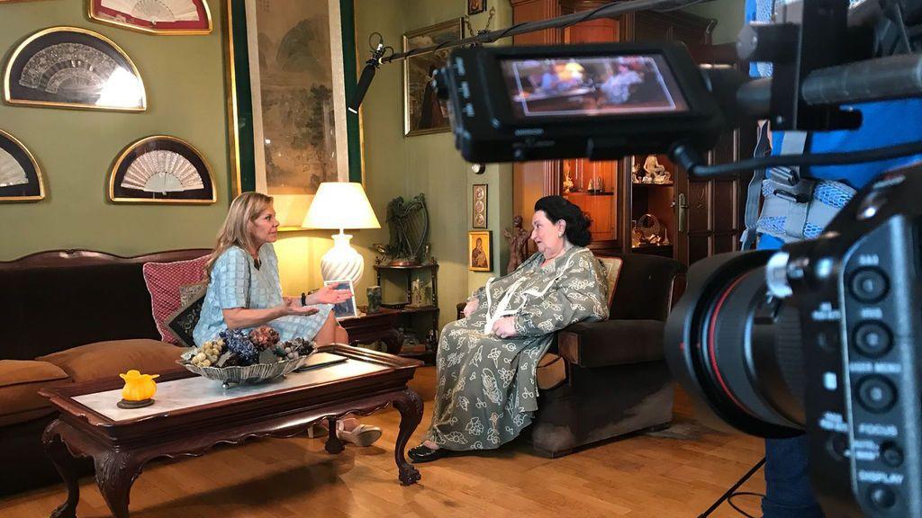 Montserrat Caballé, entrevistada por Mari Cruz Soriano en 'Gigantes'.