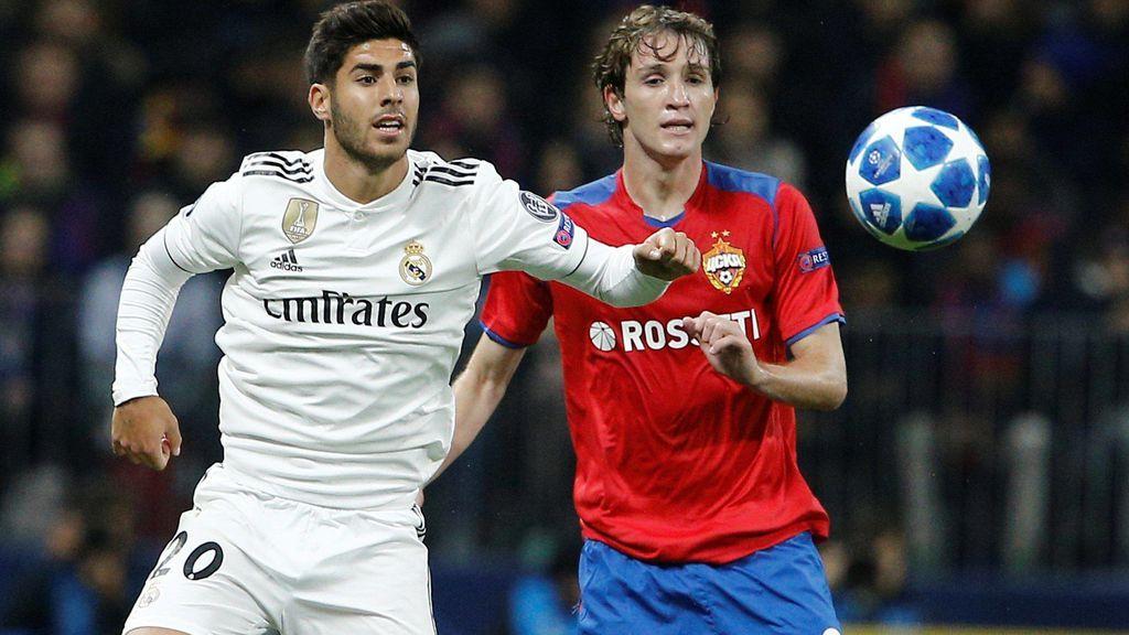 El Madrid pierde en Moscú en su tercer partido seguido sin marcar (1-0)