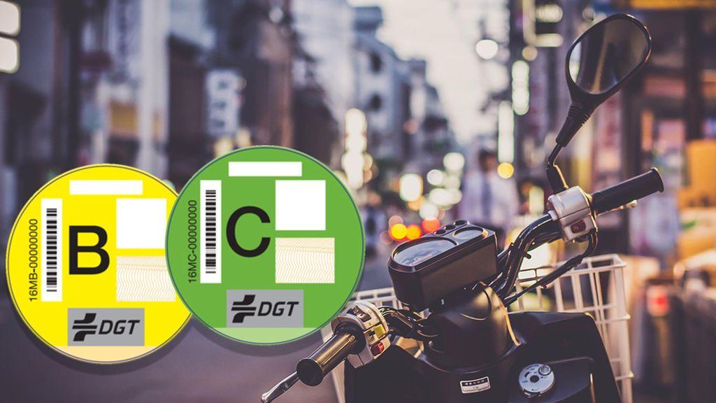 Las motos también tienen etiqueta medioambiental y casi el 50% de ellas se verán afectadas