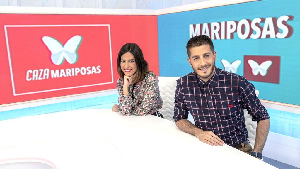 Nuria Marín y Nando Escribano, en el plató de 'Cazamariposas'.