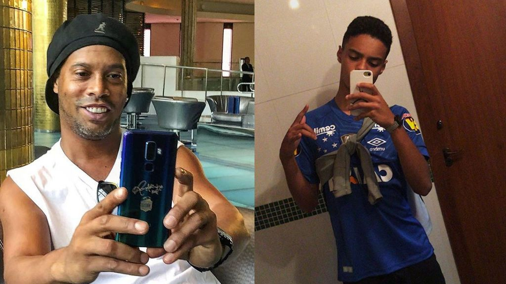 El hijo de Ronaldinho ficha por el equipo rival de su padre después de haber ocultado su identidad