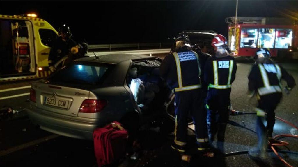 Dos muertos y dos heridos graves en un choque entre un turismo y una furgoneta en Jumilla