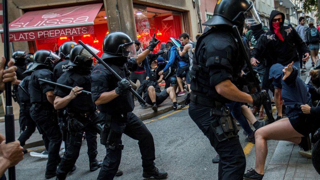 Escenas de violencia en Cataluña