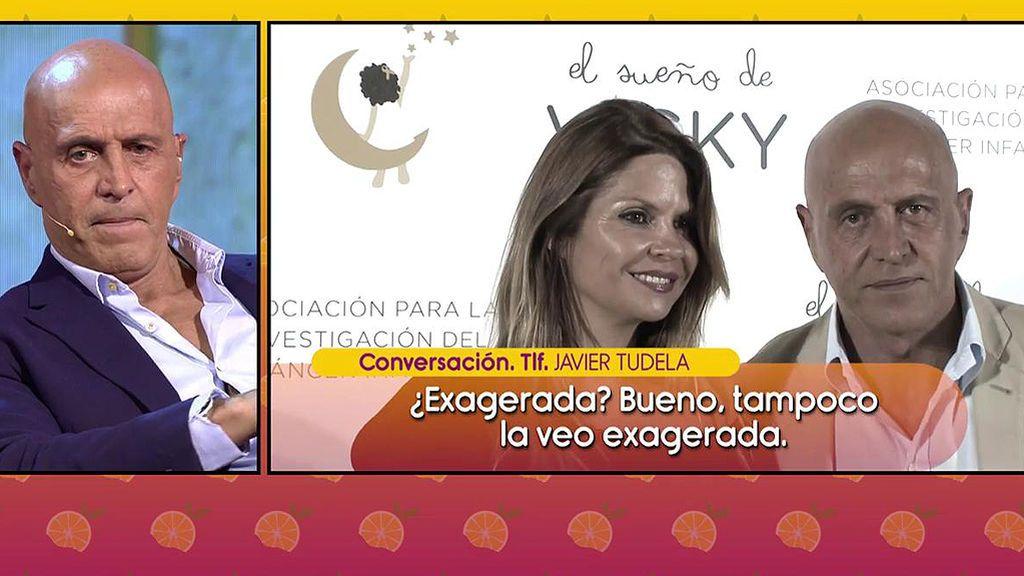 """Javier Tudela, molesto por un comentario de Matamoros sobre su madre: """"Ha estado sola mucho tiempo"""""""