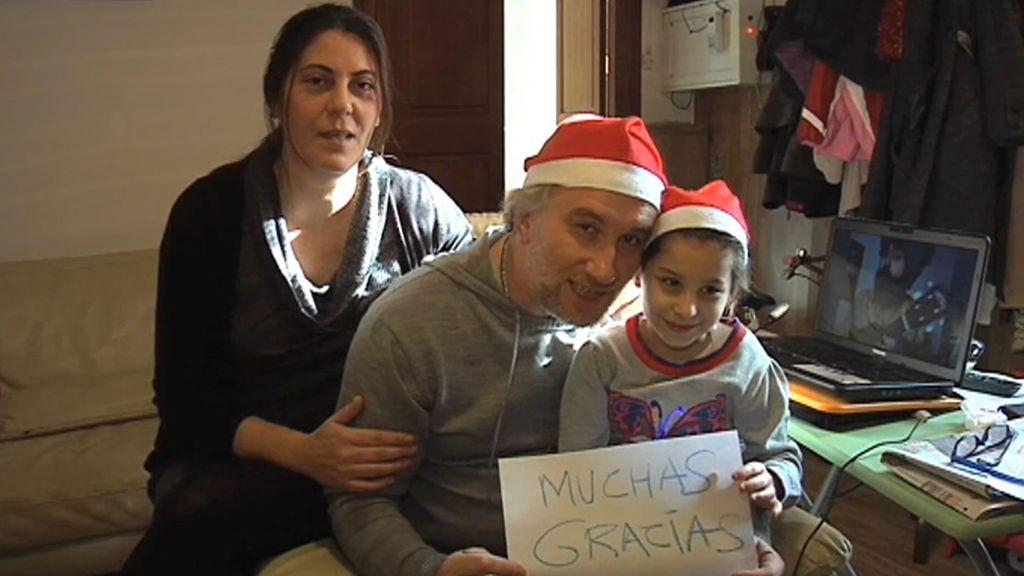 El primer mensaje de agradecimiento de los padres de Nadia en 2012