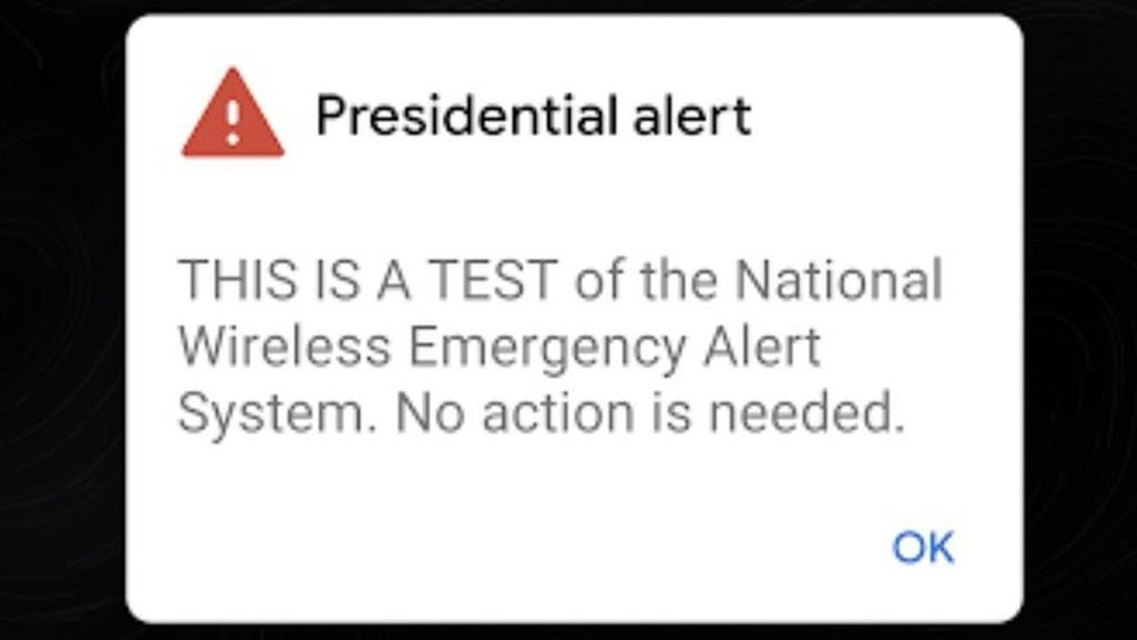 'Alerta Presidencial', el mensaje que ha inquietado a millones de estadounidenses
