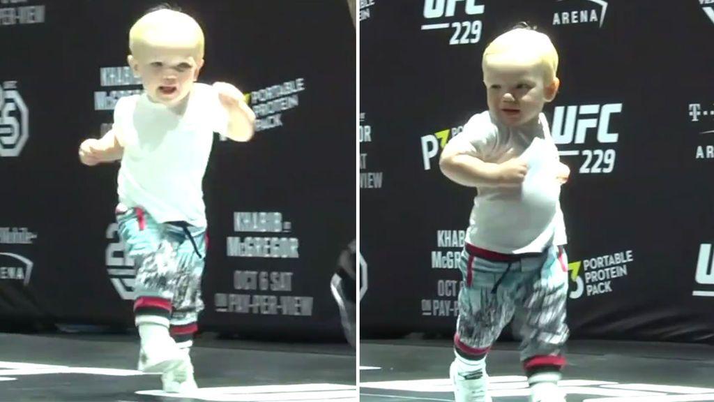 Tiene solo un año, pero el hijo de McGregor ya domina el 'swag walk' a la perfección