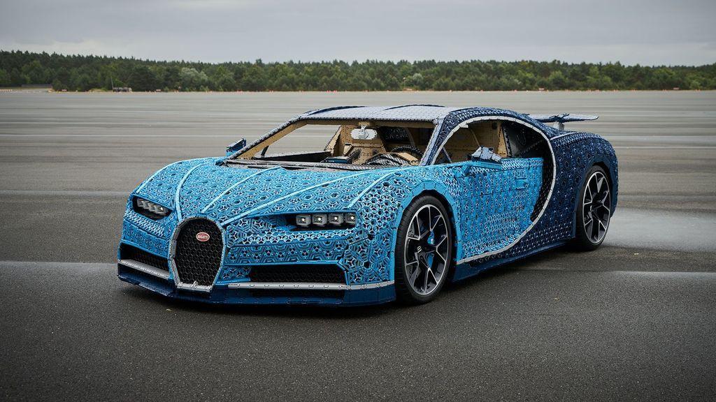 Lego construye un Bugatti Chiron a tamaño real que se puede conducir