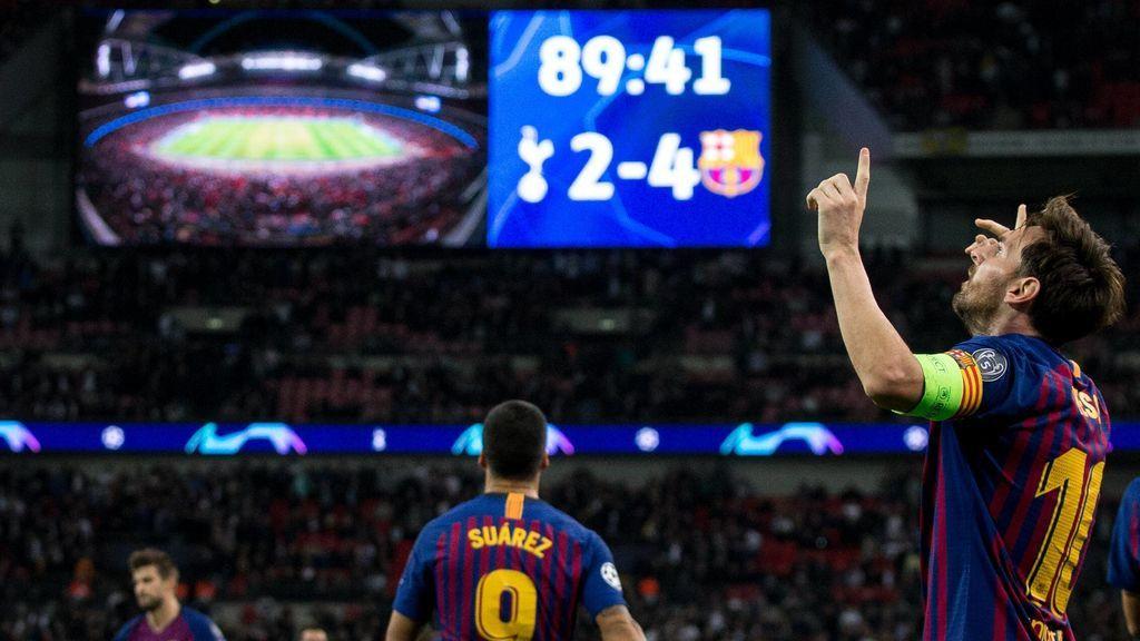 Wembley despidió en pie a Messi: el argentino lidera la goleada del Barça