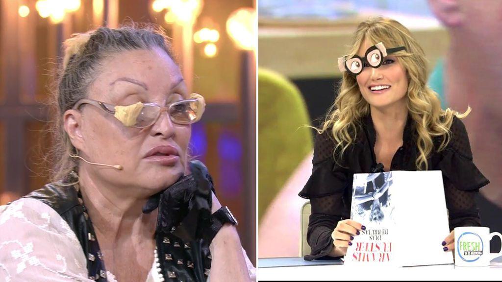 Alba Carrillo imita a Aramis Fuster con sus gafas