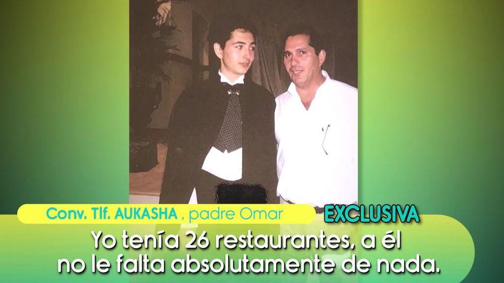 """El padre de Omar Montes: """"Yo tenía 26 restaurantes, nunca le ha faltado nada"""""""