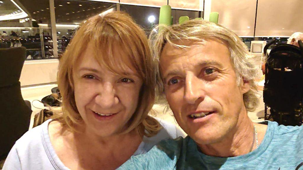 Blanca Portillo y Jesús Calleja antes de emprender su viaje a la India.