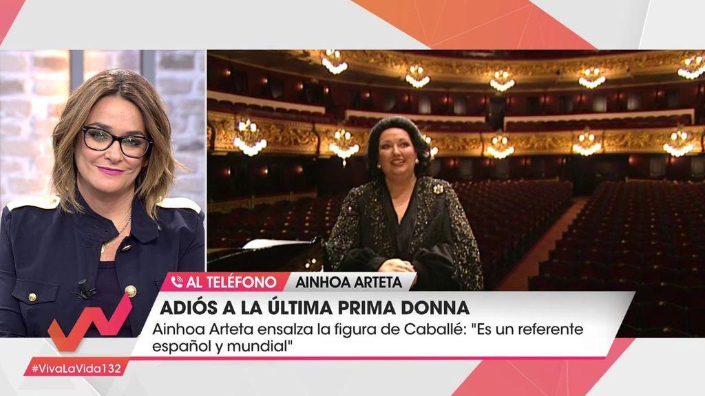 """Ainhoa Arteta, tras la muerte de Montserrat Caballé: """"Su hija no se lo esperaba"""""""