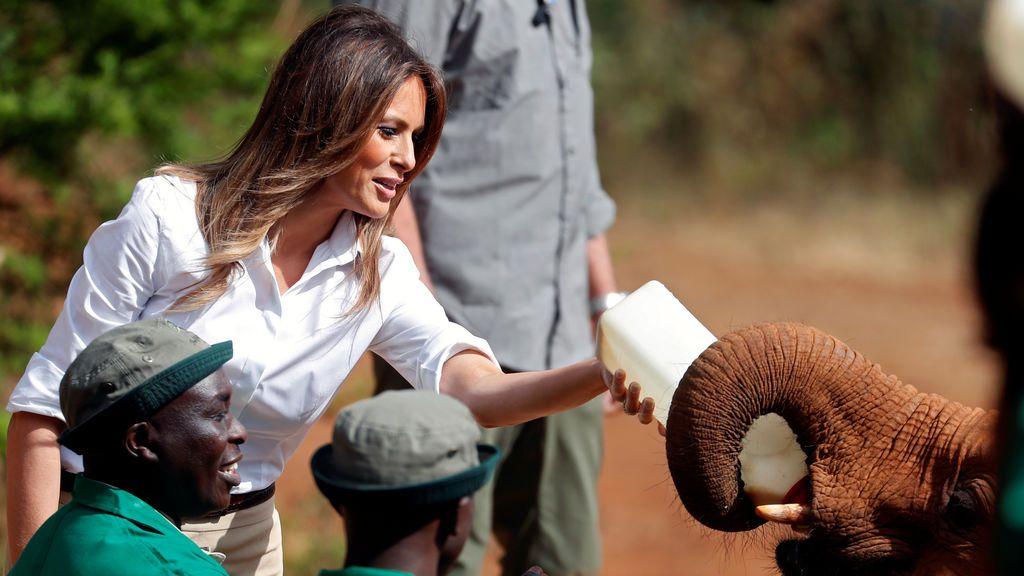 Melania Trump, de safari en Kenia