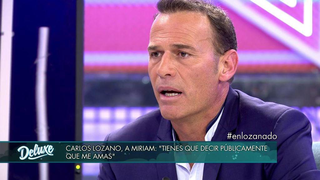 """Carlos Lozano, al borde del derrumbe al dirigirse a Miriam: """"Estoy jodido y a punto de llorar"""""""
