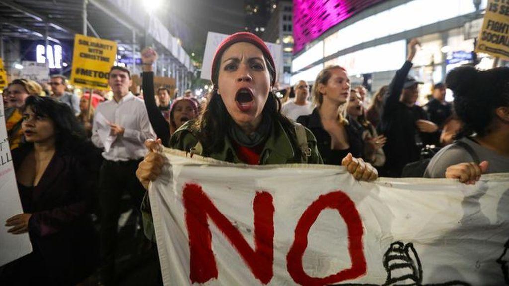 Las protestas contra Kavanaugh delante del Capitolio estadounidense deja 164 detenidos