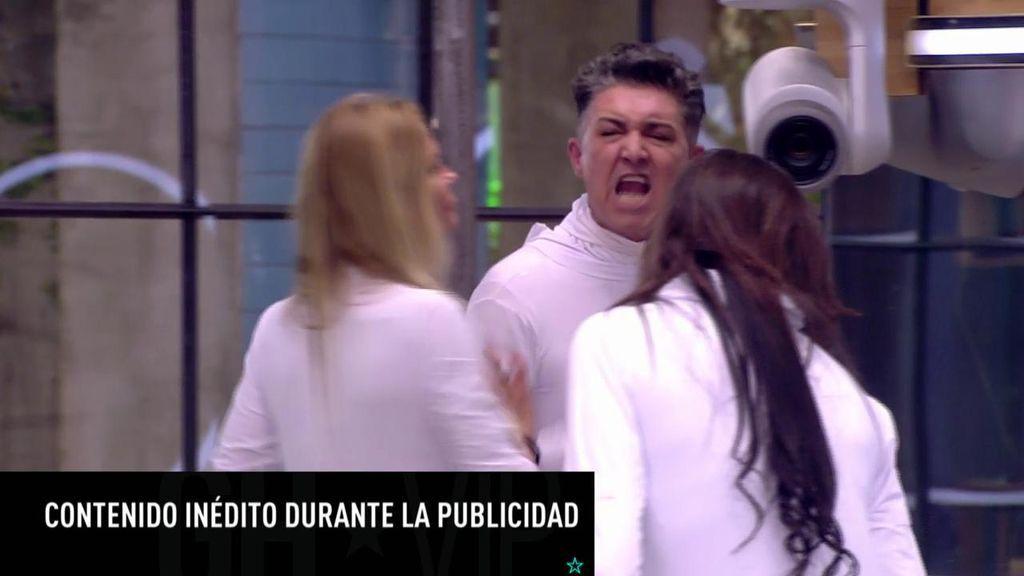 """La discusión entre Ángel y Asraf siguió durante la publi: """"¡Por alguien como tú me han metido en un calabozo!"""""""