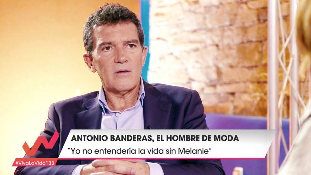 """Antonio banderas, sobre su relación con Melanie: """"Yo no entendería la vida sin ella"""""""