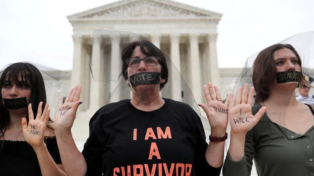 Detienen a 164 personas por manifestarse en contra de Kavanaugh delante del Capitolio estadounidense