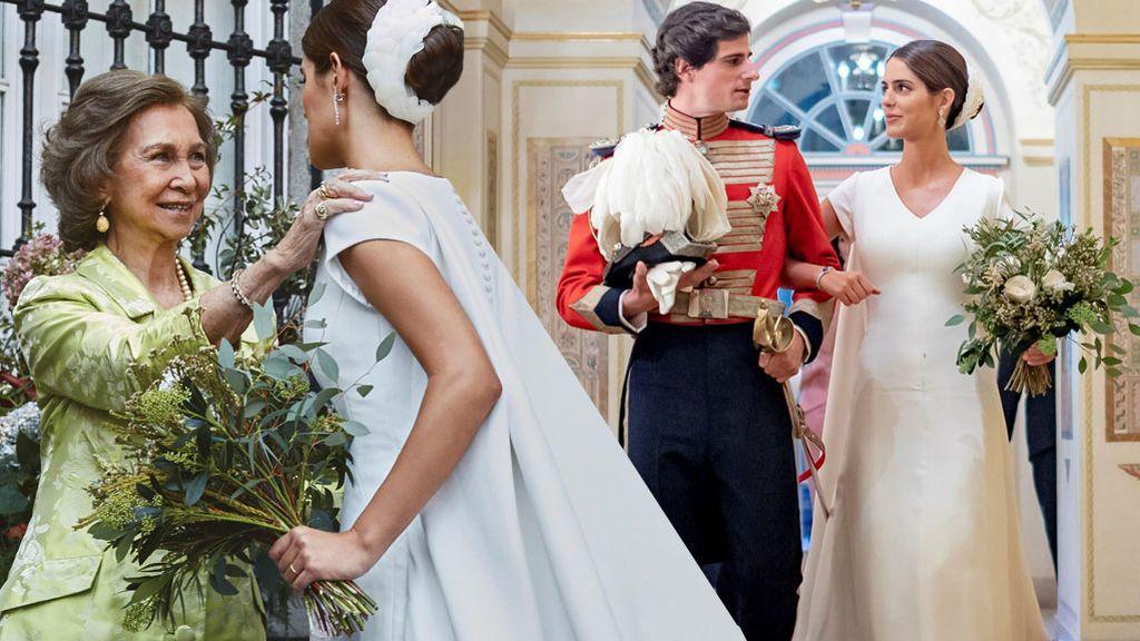 Vestido Álbum Con Huéscar Bendición Infinita Detalles Del Los La De Duques Y Capa Nupcial Reina Sofía TTxqUrP