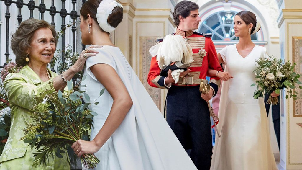 Vestido de X y bendición de la reina Sofía: detalles del álbum nupcial de Sofía Palazuelo y Fernando Fitz-James