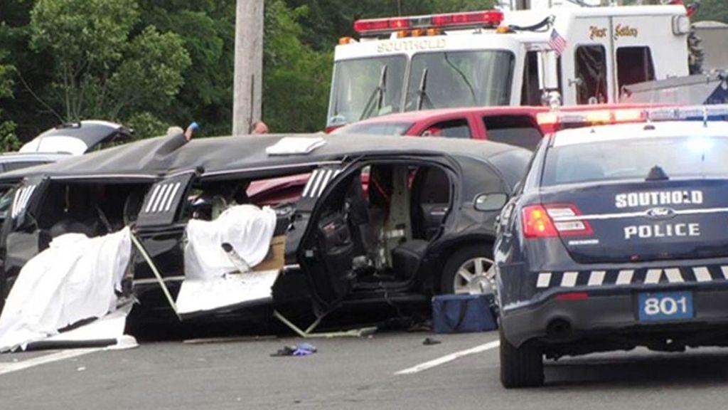 Accidente de una limusina en Nueva York:  El conductor no respetó un ceda y provocó la tragedia