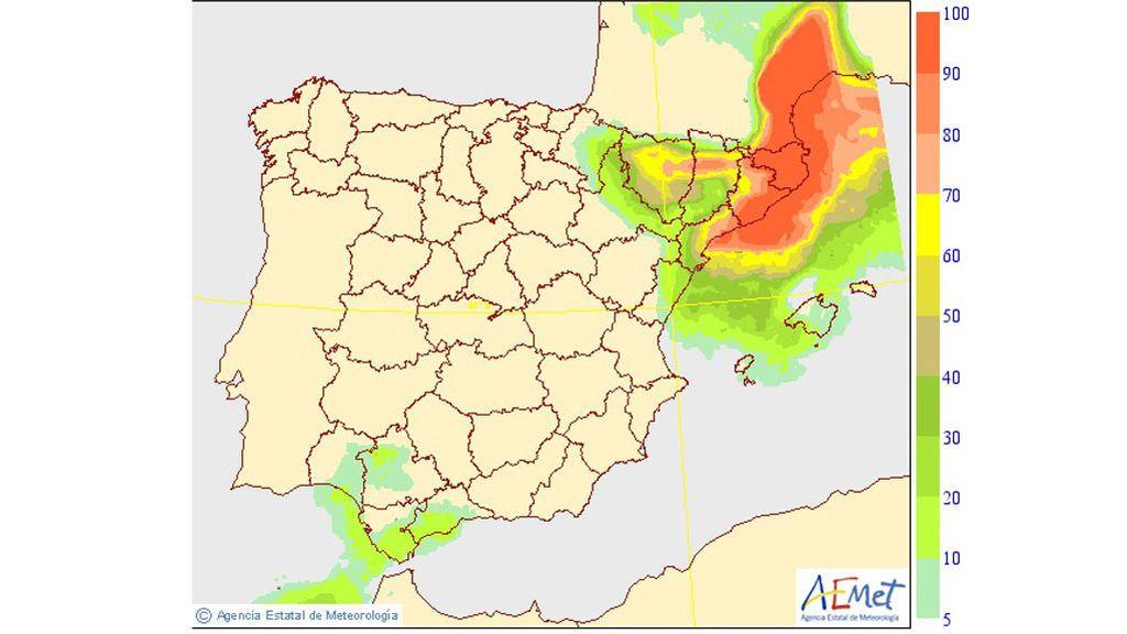 AEMET: Probabilidad precipitaciones más de 20 mm