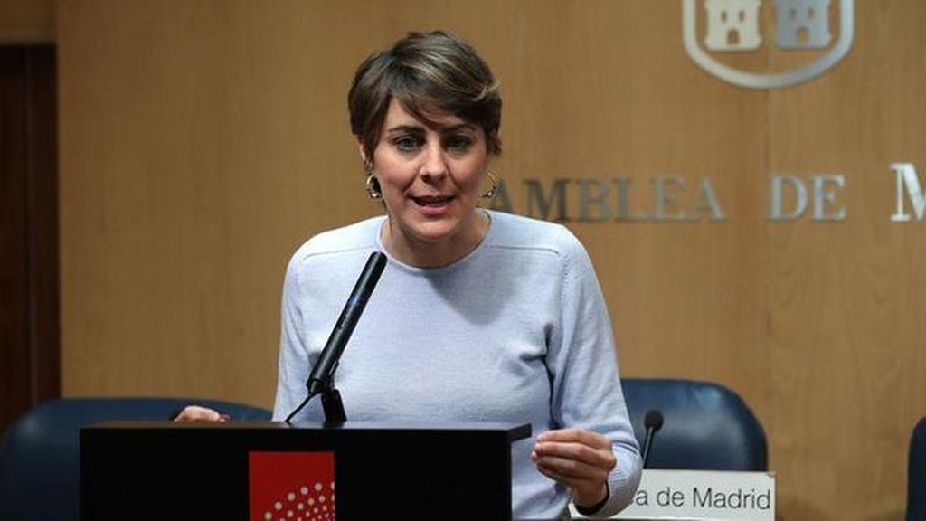 Lorena Ruiz-Huerta presenta su dimisión como portavoz de Podemos en la Asamblea de Madrid