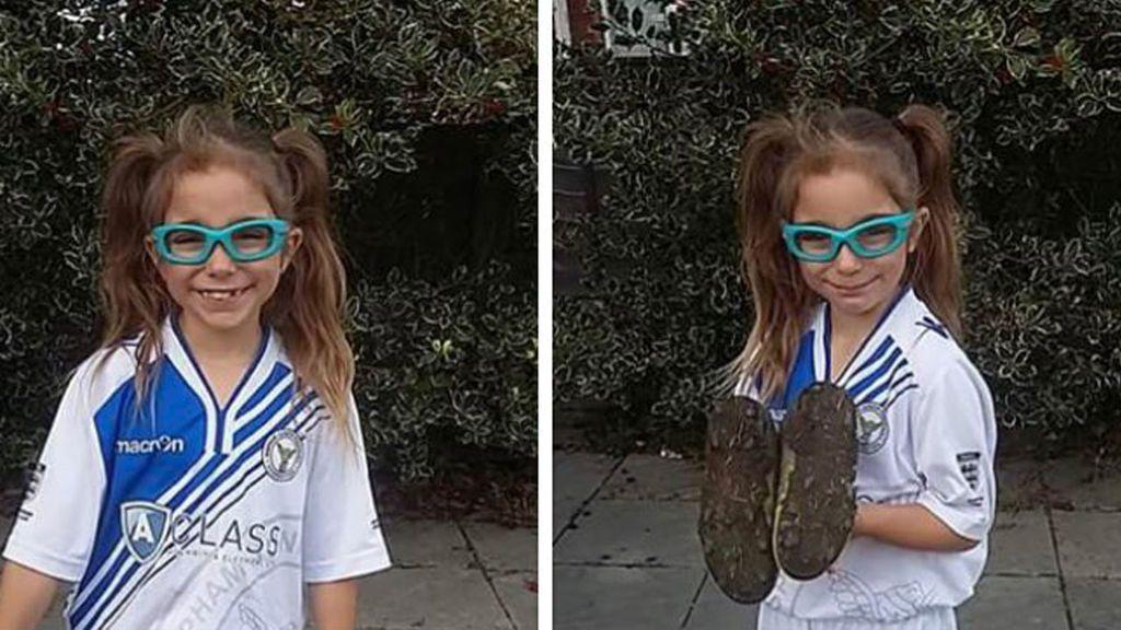 Padres de equipos rivales se meten con Darcy, de siete años, por jugar al fútbol con chicos