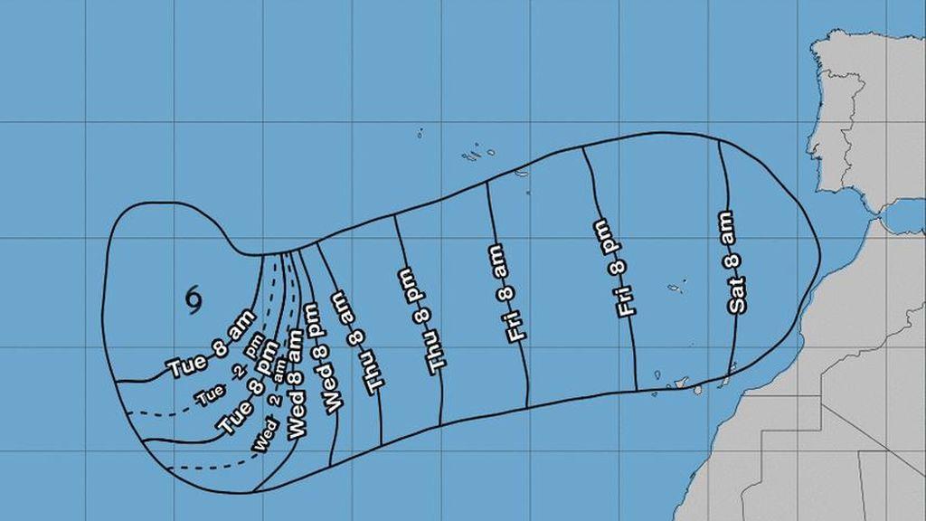 Los meteorólogos están preocupados: no saben hacia dónde irá 'Leslie'