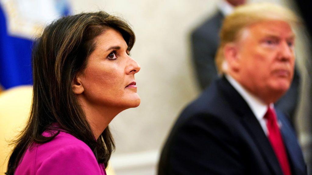 La embajadora de EEUU en Naciones Unidas, Nikki Haley, también dice adiós a Donald Trump