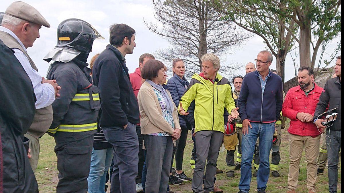 Jesús Calleja y los vecinos de Chandebrito en Pontevedra unen fuerzas contra el fuego en la próxima entrega de 'Volando voy'