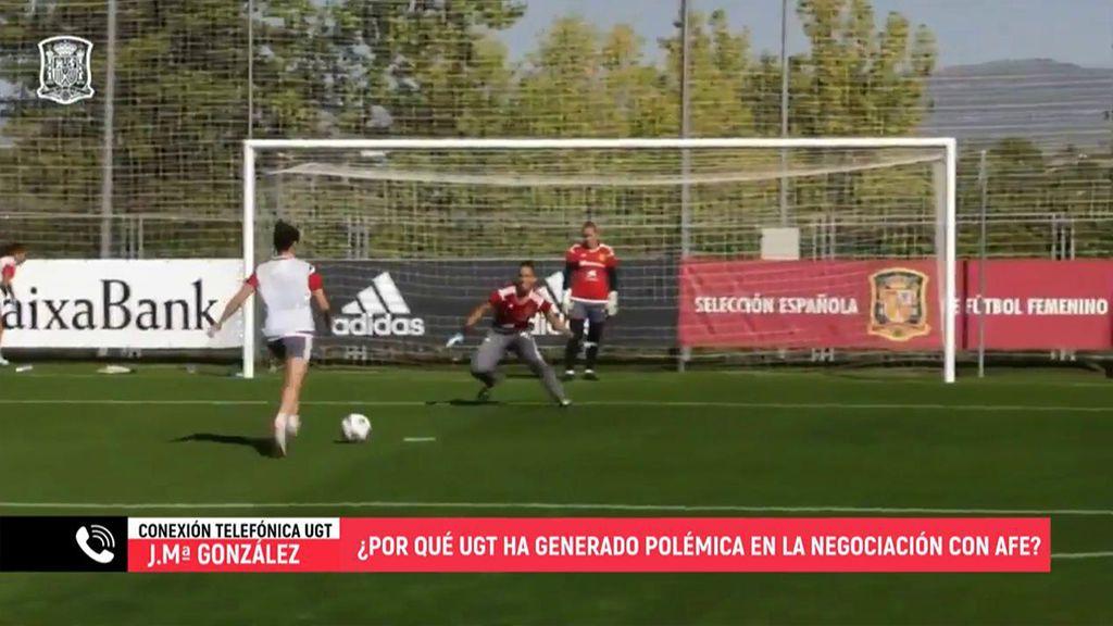 """José Mª García González, de UGT, sobre el convenio colectivo del fútbol femenino: """"No vamos a tutelar a nadie sino a defender sus intereses"""""""