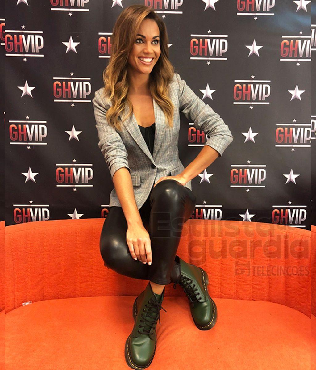 Un look príncipe de gales para Lara Álvarez