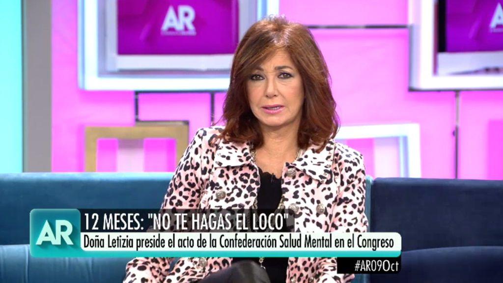 """Ana Rosa Quintana: """"Las personas con problemas mentales deben ser felices"""""""