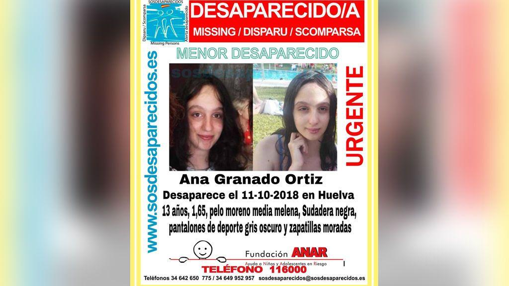 Investigan la desaparición de una menor de 13 años en Huelva