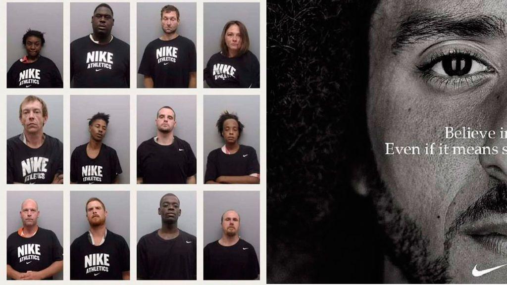 Un sheriff de Arkansas obliga a sus detenidos a posar para la ficha policial con camisetas Nike en protesta contra la marca