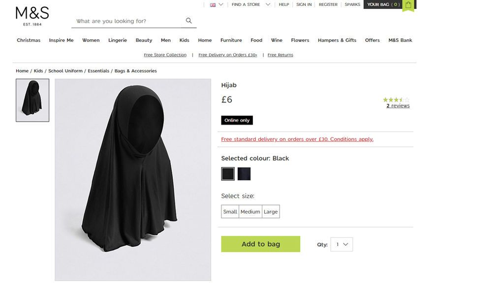 El hiyab, ¿uniforme escolar?
