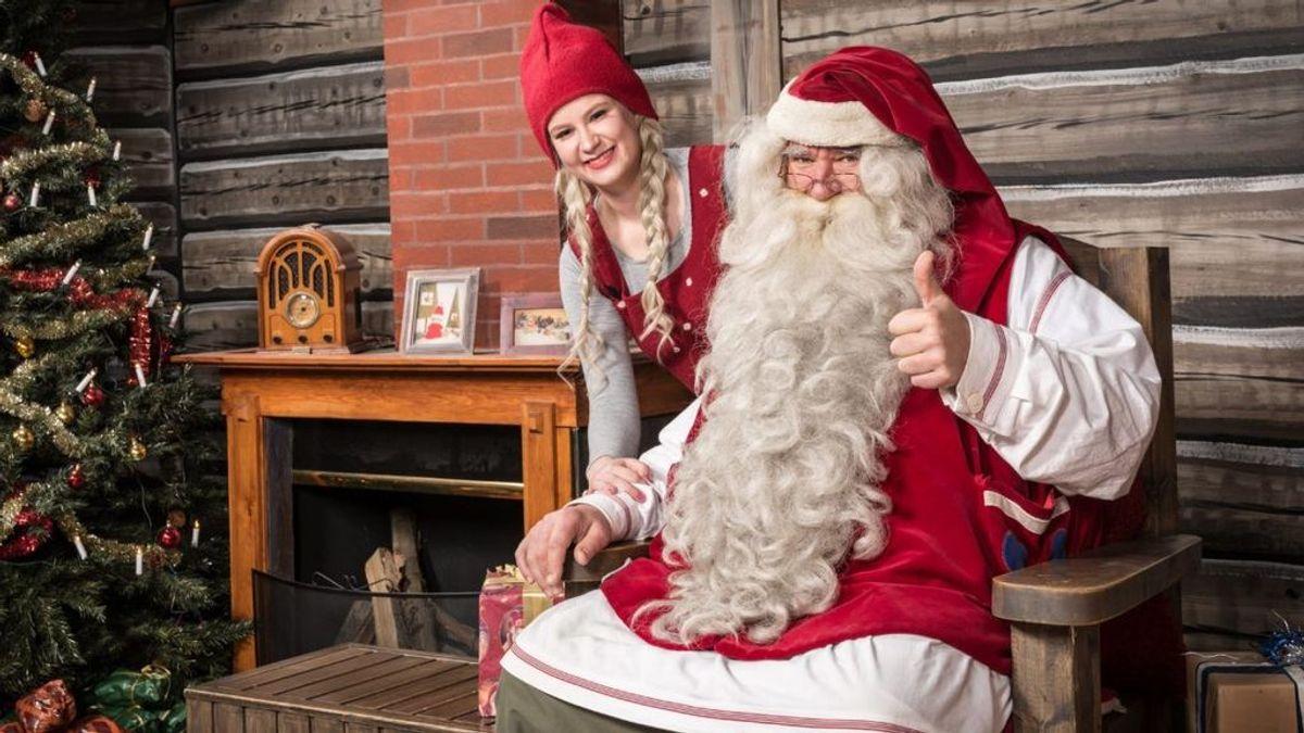 De visita en la casa de Papá Noel