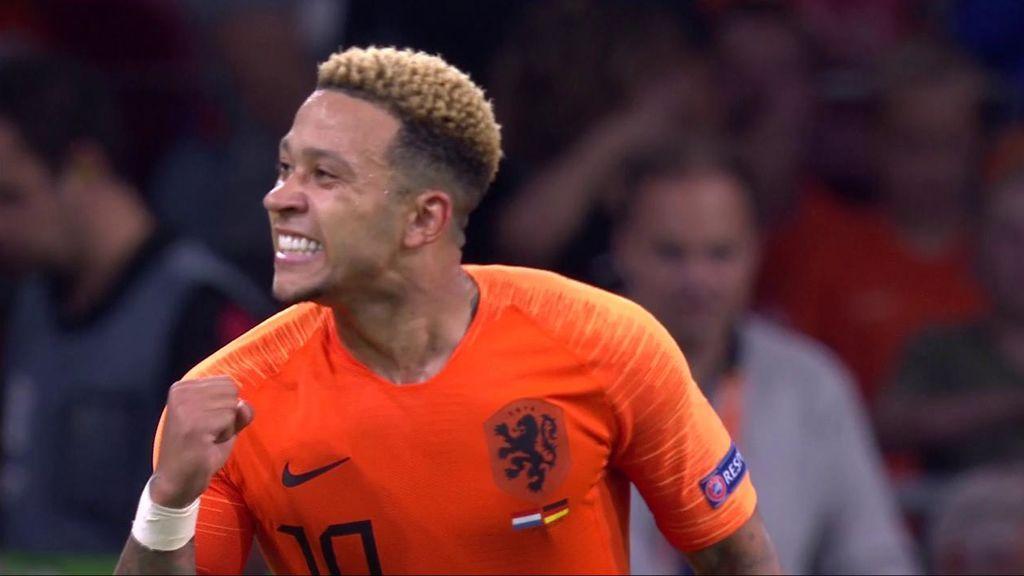 Depay pone la guinda a la victoria de Holanda tras un contraataque de manual (2-0)
