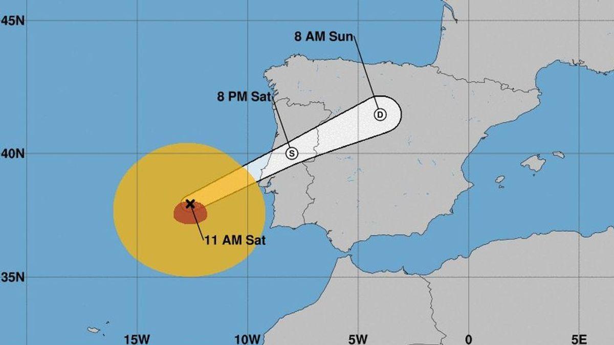 El huracán Leslie alerta a CyL con vientos de hasta 100 k/h y lluvias intensas