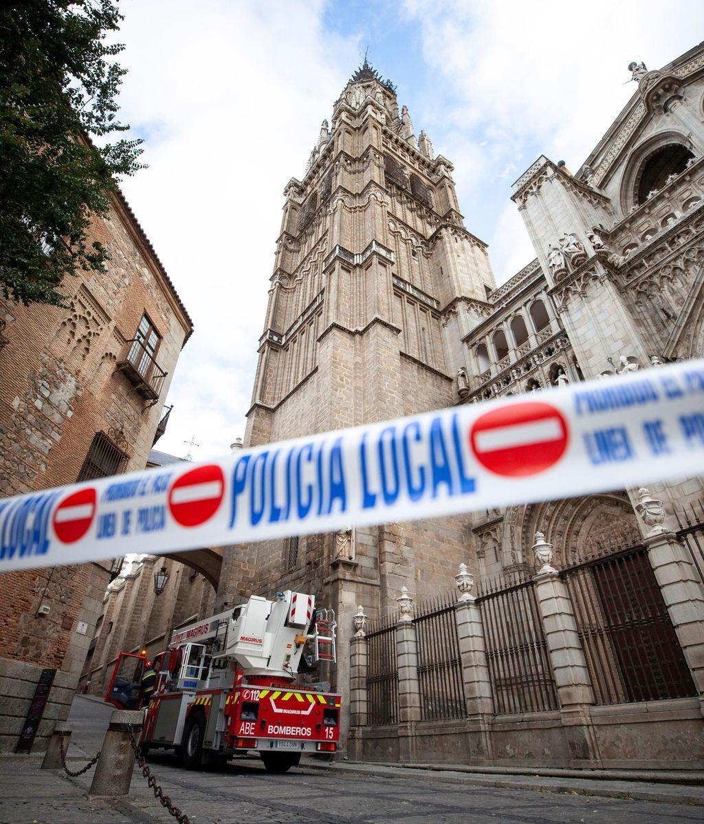 Se desprende parte de la catedral de Toledo