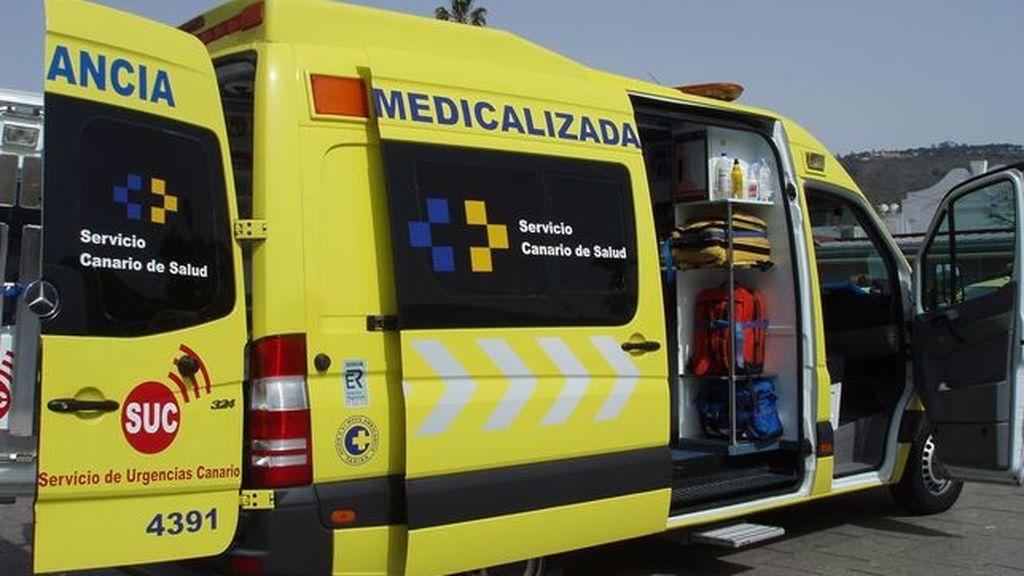 Un hombre, en estado crítico tras explotarle un cartucho de dinamita en La Palma