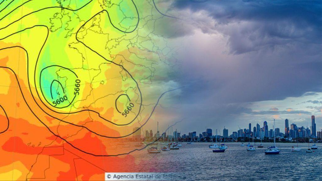 Aviso especial de la AEMET: lluvias muy intensas este jueves por dos borrascas que se unirán en una