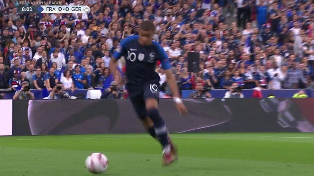 De área a área en ocho segundos: la carrera de Mbappé ante Alemania con la que vas a alucinar