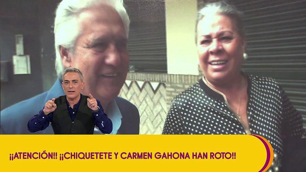 """Chiquetete y Carmen Gahona han roto por una """"deslealtad"""" del cantante, según Kiko Hernández"""