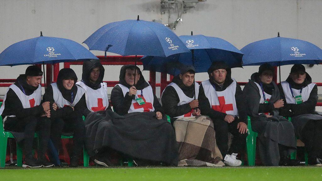 lluvia futbol